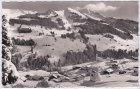 Hirschegg (Kleinwalsertal), Ortsansicht, Winter, Ansichtskarte, ca. 1955