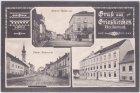 Grieskirchen (Oberösterreich), u.a. Volksschule, Ansichtskarte, ca. 1915
