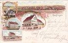 88437 Aepfingen (Maselheim), u.a. Bahnhof, Farblitho, ca. 1900