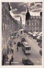 Graz, Herrengasse, Straßenbahn, Ansichtskarte, ca. 1935