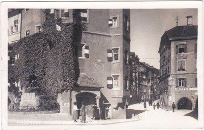 Innsbruck, Straßenansicht, Ansichtskarte, ca. 1935
