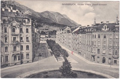 Innsbruck, Kaiser-Franz-Josef-Strasse, Ansichtskarte, ca. 1910
