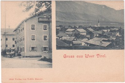 Weer (Tirol), Ansichtskarte, ca. 1900
