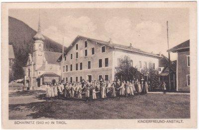 Scharnitz (Tirol), Kinderfreund-Anstalt, Ansichtskarte, ca. 1915